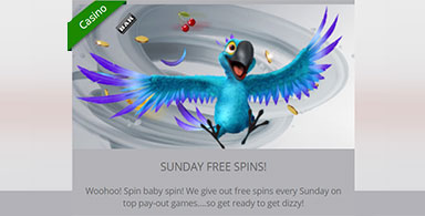 Sunday promotion at a casino
