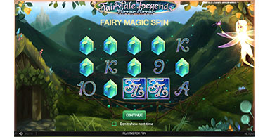 The user interface of NetEnt's FairyTale Legends.