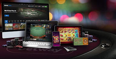 Different devices to play with at an online casino.