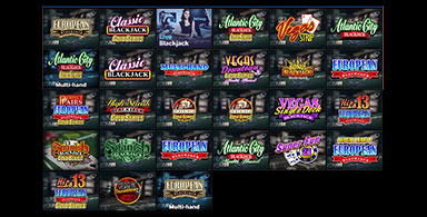 Many available Blackjack games.