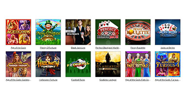 A number of available casino games titles