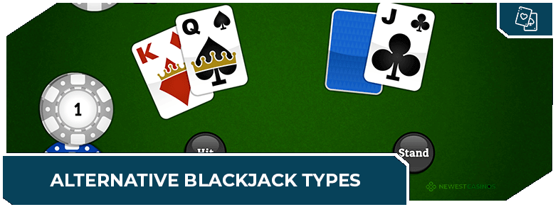 online blackjack casinos alternative types