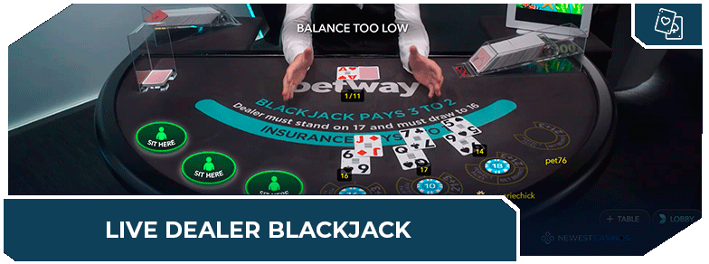 online blackjack casinos live dealer