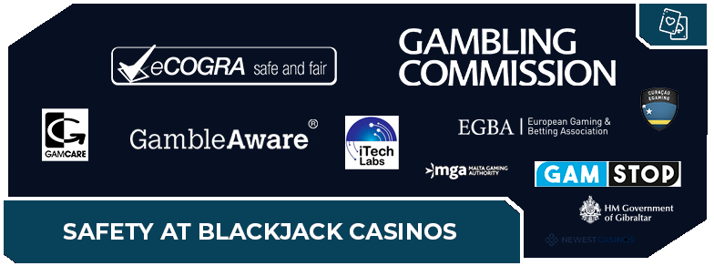 online blackjack casinos safety first