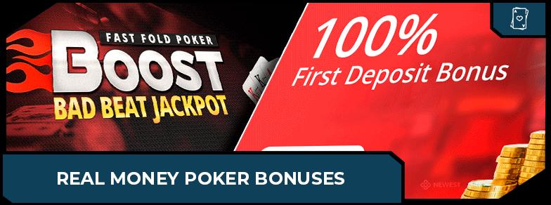 real money poker bonuses