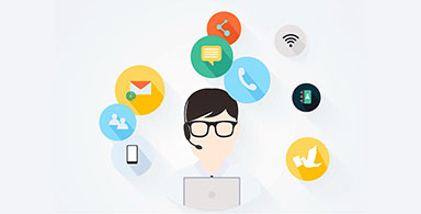 Mobile users can easily access customer support services.