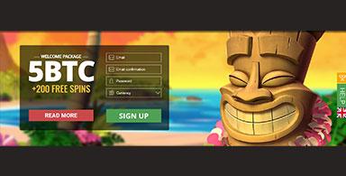 A welcome bonus at a BTC casino.