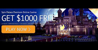 A welcome bonus at a casino.