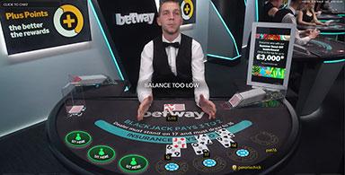 Live dealer and Blackjack