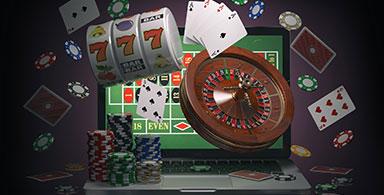 Online gaming on laptop