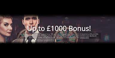 $1000 Casino bonuses are common.