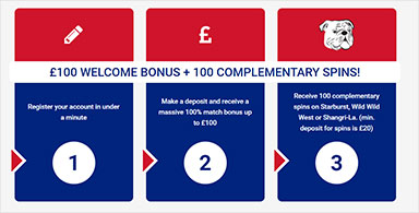 A welcome bonus offer