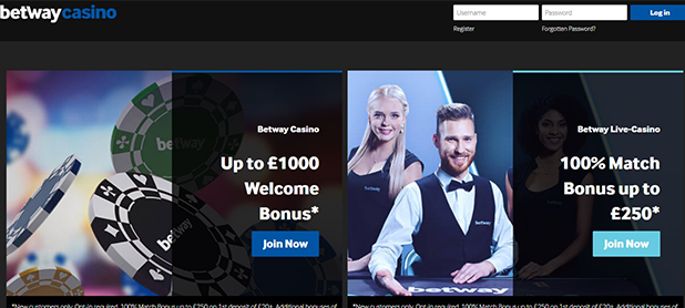 Betway Casino Home Page